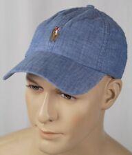 123e0633630f6 Polo Ralph Lauren Lightweight Denim Baseball Ball Cap Hat Multi Colored  Pony NWT