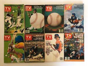 (8) TV Guide Mags MLB 1979-1982 Season Opener To World Series Providence Ed.