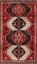 Geometric Tribal Abadeh Rugs 4x7 Oriental Wool Handmade Area Carpet