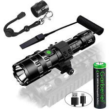 2in1 L2 LED Tactical Flashlight Rail Mount 5Modes Waterproof Scout Hunting Light