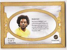 2018 Futera Unique 1 of 1 Memorabilia Marcelo Brazil Real Madrid 1/1