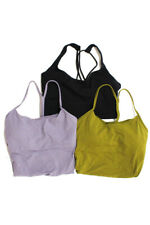 Lululemon Womens Athletic Tank Top Sports Bra Green Purple Black Small Lot 3