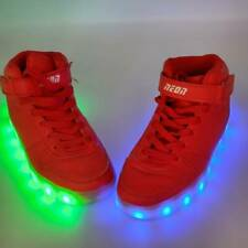 Neon KYX Mens Led Light Up Shoes Red Lace Up High Top Hook And Loop Sneakers 3