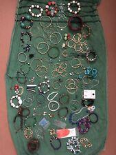 Huge Joblot Costume Jewelry Almost 1.3 Kgs Earrings Bracelets Bangles Brooch