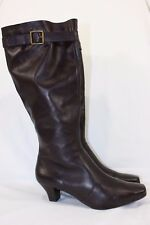 EDDIE BAUER TALL KNEE HIGH BOOTS WIDE CALF WOMEN'S 7M BROWN LEATHER