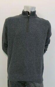 BARBOUR Holden Half Zip Sweater In Grey UK Large NWD 25915JC