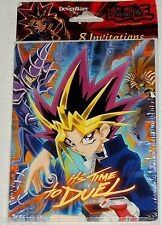 NEW  ~Yu-Gi-Oh!  BLUE   8-INVITATIONS W/ENVELOPES    PARTY SUPPLIES