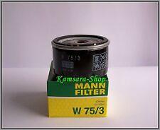 Filtro aceite MANN W 75/3 DACIA OPEL RENAULT CLIO KANGOO MEGANE Scenic Trafic