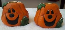 Midwest of Cannon Falls Eddie Walker Jack-O-Lantern Candle Holders - Set of 2
