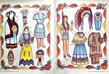 Indian Princess Magazine Paper Doll,1987, By Loraine Morris, Sioux, Hopi Etc.