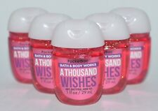 5 BATH BODY WORKS A THOUSAND WISHES POCKETBAC ANTI BACTERIAL HAND GEL SANITIZER