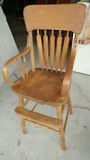 Antique Oak Baby High Chair - Beautiful - Nice Condition