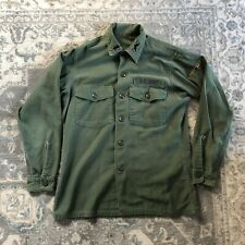 Vintage US Army USATC Armored Long Sleeve Green Fatigue Shirt
