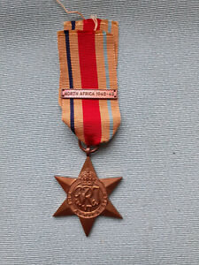 ORIGINAL WW2  Medal AFRICA  STAR with North Africa 1942-43 CLASP  All Genuine
