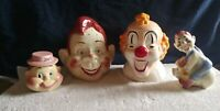 Vintage Howdy Doody, Clarabelle, and Heidi Doody Cookie & Jam Jars & Bank-RARE!!