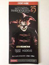 Halloween Horror Nights 2015 HHN 25 Guide Maps Universal Studios Florida Jack