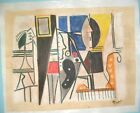 Pablo Picasso drawing on old cardboard hand made signed & stamped