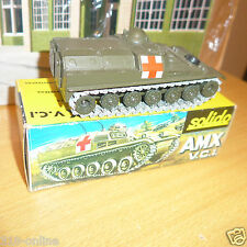 Solido AMX V.C.I.  W box made in 1971 lovely and rare military model {France}