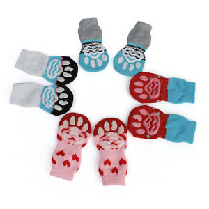 Dog Winter Shoes Anti-Slip Knit Socks Small Pet Cat Warm Paw Protector Dog Socks