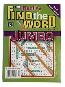 Kappa Quinn Find The Word Jumbo No. 147