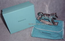 VHTF Tiffany 1992 Sterling Silver 3D Rocking Horse Christmas Ornament Decoration