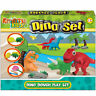 DINOSAUR DOUGH PLAY SET - TY8758 DINO DOH TUB MODELLING MOULD CREATE SCULPT FUN
