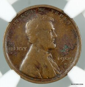 KEY DATE NGC FINE DETAILS 1909-S VDB LINCOLN WHEAT CENT 1c    (BC03)