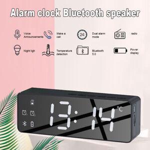 B119 Smart Wireless Bluetooth Sound box Bedside Alarm Clock Stereo Subwoofer