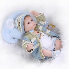 """16"""" Handmade Soft Silicone Reborn Babies Newborn Doll Toys with Knitting Clothes"""