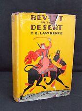 T.E.Lawrence Revolt in the Desert H/C D/J 1st US Printing Doubleday Doran 1927