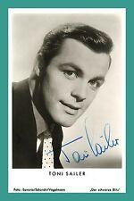 TONI SAILER | Skirennläufer, Schauspieler | Original-Autogramm auf Starkarte