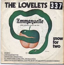 "THE LOVELETS - Emmanuelle - VINYL 7"" 45 LP ITALY 1974 VG+ COVER  VG- CONDITION"