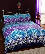 Asha Sapphire Duvet Cover Vintage Asian Indian Purple & Blue Bedding FREE P&P !!