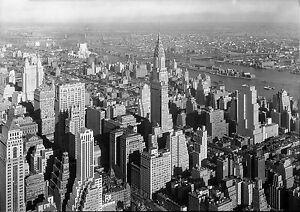 A0 size canvas print art  New York City 1930  photo Chrysler Building vintage