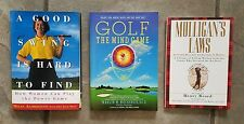 3 Golf Books-A Good Swing is Hard to Find, Golf the Mind Game, Mulligan's Laws