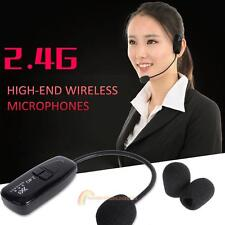 Wireless Headset Microphone Handsfree Radio FM Megaphone Mic for Speaker Teacher