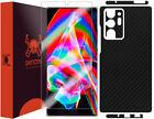 Skinomi Black Carbon Fiber Skin Cover for Samsung Note 20 Ultra [6.9 inch]