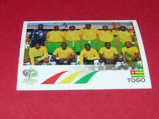 511 EQUIPE TEAM TOGO PANINI FOOTBALL GERMANY 2006 WM FIFA WORLD