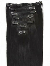 "18""20''22'' 70g 100g Full Head Clip In Or WEFT Remy 100% Human Hair Extensions"