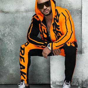 Men Tracksuit 2 Piece Casual Pant Hoodie Jacket Sweatsuit hip hop Sweatshirt Set