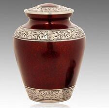 Elite Crimson Cloud and Silver Cremation Urn, Adult Urn, Handcrafted!