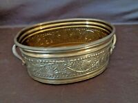Vintage Decorative Metal Basket With Handles Made in India