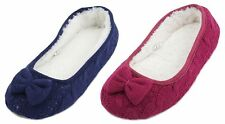 Slumberzzz Ladies Knitted Ballet Slippers