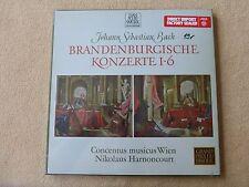 Bach - Brandenb1-6 - Concentus Musicus - N.Harnoncourt - TELEFUNKEN 2LP  (B107)