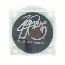 Zach Parise New Jersey Devils Signed Puck - Tenth Anniversary