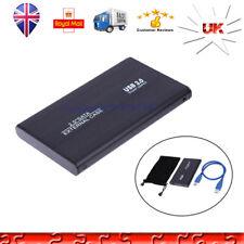 "1X Hard Disk Drive Enclosure USB 3.0 2.5""Inch Black External Sata HDD Case Caddy"