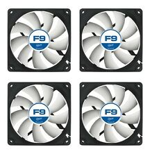 4 x Pack of Arctic Cooling F9 92mm Case Fans 1800 RPM (AFACO-09000-GBA01)