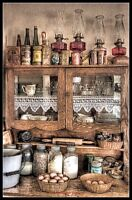 Antique-Cabinet - Chart DIY Counted Cross Stitch Pattern Needlework