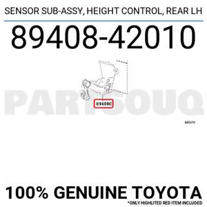 8940842010 Genuine Toyota SENSOR SUB-ASSY, HEIGHT CONTROL, REAR LH 89408-42010