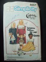 Vintage Simplicity Pattern 6657 Cinderella Tucked Dress Cut Size 12 circa 1980s